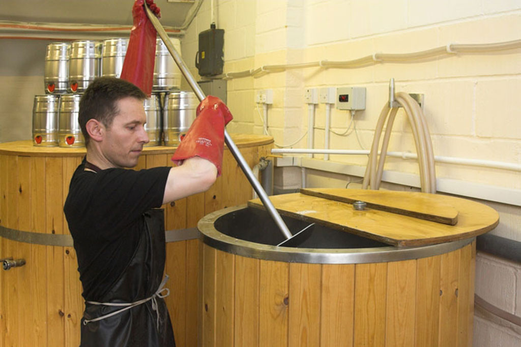 Ascot Ales stirring the mash